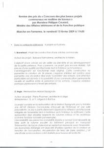 20090213 Prix Ministre Ph. Courard